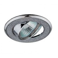 Светильник DK18 CH/SH SL декор круглый со стекл. крошкой MR16 12В 50Вт хром/серебр. ЭРА