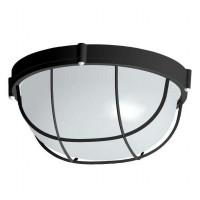 Светильник НПП 03-100-010 Банник 1102 круг большой 1х100Вт E27 IP65 корпус с решеткой черн. Элетех