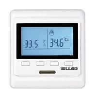 Термостат прогр. HW-500 дисп. датчик пола; датчик возд. 3.6кВт 16А бел. Grand Meyer