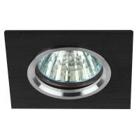 Светильник KL57 SL/BK литой алюминевый  MR16 12В/220В 50Вт серебр./черн. ЭРА