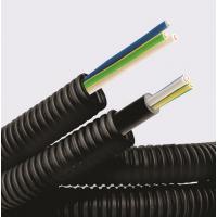 Труба гофрированная ПНД d16мм с кабелем 1.5х3 ВВГнгLS ГОСТ+ черн. (уп.50м) ДКС