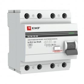 Выключатель дифференциального тока (УЗО) 4п 40А 30мА тип A ВД-100 PROxima (электромех.) EKF
