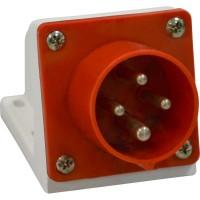 Вилка 514 16А 6h 380AC 3P+PE IP44 для монтажа на поверхность КЭАЗ