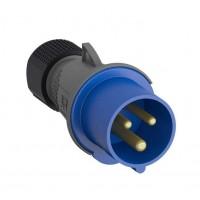 Вилка кабельная Easy&Safe 216EP6 16А 2P+E IP44 6ч ABB