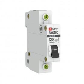 Выключатель автоматический модульный 1п C 50А 4.5кА ВА 47-29 Basic EKF