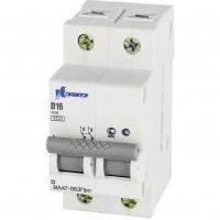 Выключатель автоматический модульный 2п B 1А 4.5кА ВА47-063Про Контактор