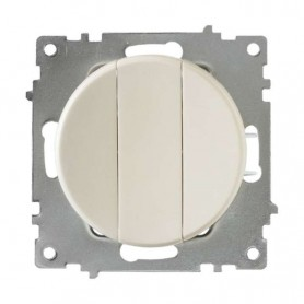 Механизм выключателя 3-кл. СП Florence 10А IP20 беж. OneKeyElectro