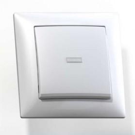 Выключатель 1-кл. СП Селена 10А IP20 С110-395 с индик. бел. Кунцево