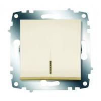 Механизм выключателя 1-кл. СП Cosmo 10А IP20 с подсветкой крем. ABB