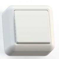 Выключатель 1-кл. ОП Оптима 10А IP20 А110-377 с монтажной пластиной бел. Кунцево