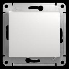Выключатель 1 клавишный белый Glossa