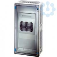 Корпус пластиковый 540х270х163 открывание инструментом сер. с прозр. дверью FP 4312 HENSEL