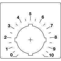 Шильдик для потенциометра, со шкалой