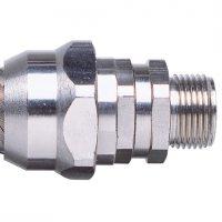 Фитинг PBC54/M50/B, прямой поворотный, никелированная латунь, резьба M50, d54, 2 шт. в пачке