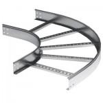 Угловая вставка для кабельных лотков лестничного типа