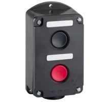 ПКЕ 222-2 У2, 10А, 660В, 2 элемента, чёрный и красный цилиндр, накладной, IP54, пост управления (ЭТ)