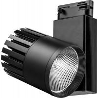 Светодиодный светильник Feron AL105 трековый на шинопровод 30W 4000K, 35 градусов, черный, 3-х фазный