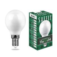 Лампа светодиодная SAFFIT SBG4511 Шарик E14 11W 6400K