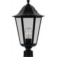 Светильник садово-парковый Feron 6103 шестигранный на столб 60W E27 230V, черный