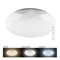Светодиодный управляемый светильник накладной Feron AL5200 тарелка 60W 3000К-6500K белый