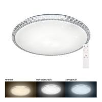 Светодиодный управляемый светильник накладной Feron AL5300 тарелка 60W 3000К-6500K белый
