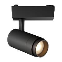 Светодиодный трековый светильник Geniled Track Classic Zoom 10Вт 4700К Чёрный с адаптером для однофазного шинопровода