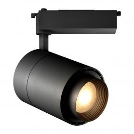 Светодиодный трековый светильник Geniled Track Classic Zoom 40Вт 4700К Чёрный с адаптером для однофазного шинопровода