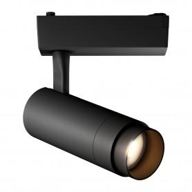 Светодиодный трековый светильник Geniled Track Classic Zoom 30Вт 4700К Чёрный с адаптером для однофазного шинопровода