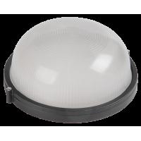 Светильник накл.для Л.Н.100 Вт IP54 круг черный без решётки НПП1101