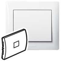 Клавиша для выключателя/переключателя 1 клавишного с подсветкой белый Galea Life