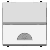 Кнопка 2 модуля с символом Звонк белый Zenit