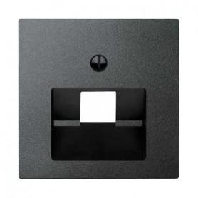 Накладка  для розетки  телефонной/компьютерной антрацит System M