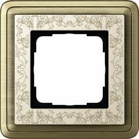 Рамка 1 пост бронза/кремовый CassiX Art
