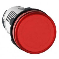 Лампа сигнальная красная 24В AC/DC светодиод