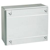 Коробка монтажная распределительная 380х300х120 мм с крышкой для открытого монтаж, без сальников, IP 56