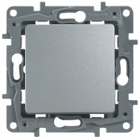 Выключатель/переключатель 1 клавишный алюминий Etika