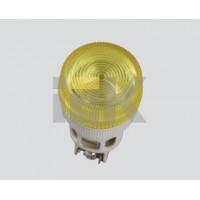 Светосигнальный индикатор неон/230В ENR-22 желтая d 22мм цилиндр
