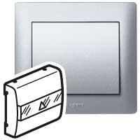 Клавиша для выключателя карточного алюминий Galea Life