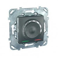Термостат для теплого пола с датчиком 10А от+5 до +45 С графит Unica Top