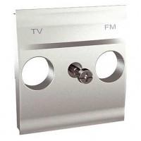 Накладка для розетки TV-FM алюминий Unica Top