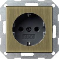 Розетка 2P+E 16A бронза/антрацит ClassiX