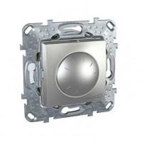 Диммер поворотный для ламп накаливания и галогенных ламп 230В, 40-1000Вт алюминий Unica Top