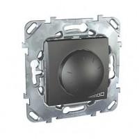 Диммер поворотный для ламп накаливания и галогенных ламп 230В, 40-400Вт графит Unica Top