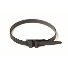 Хомут кабельный полиамид 9,0х200 мм с плоским замком 6.6 (-40С+85С) черный(упак.100шт.)
