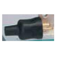 Вилка прямая без заземления черная резиновая 16А 230В