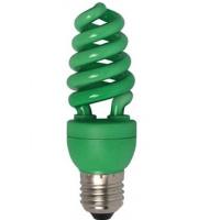 Лампа энергосберегающая 15 Вт Е27 спираль, зелёная