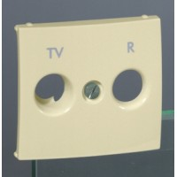 Накладка для телевизионной розеткиTV+FM слоновая кость Valena