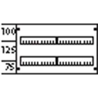 Пластрон с прорезями 2ряда/2рейки