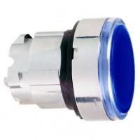Головка для кнопки с подсветкой синяя 22 мм с возвратом