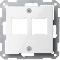 Накладка  для двойной розетки телефонной/компьютерной с супортом полярно белый  System M